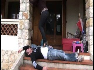 French Trample Human Doormat