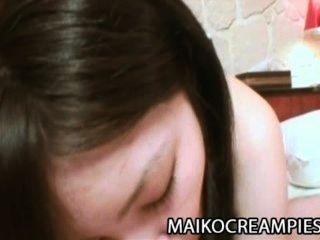 Maya Yasuhara - Pretty Jav Teenager Creampied By An Old Man