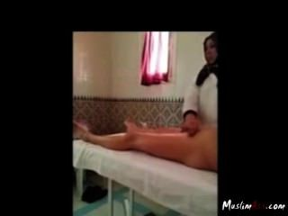 Hijab Cock Massage