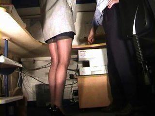 Secretary In Stockings Spanked