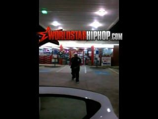 Ratchet Ass Old Woman Fucks Guys At Gas Station