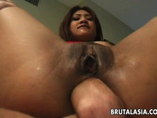 Busty Asian Thai Slut Gets To Be Duble Penetrated Hard
