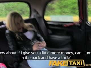 Faketaxi Young Blonde With Big Tits In Taxi Creampie