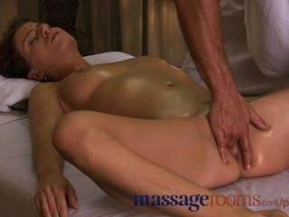 Massage Rooms Cute Teen Enjoys Fingering And Sensual Climax Before Creampie