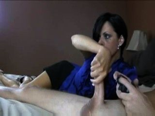 Mom Give Handjob To His Step-son
