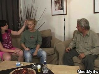 Naughty Girl Have Fun With His Parents