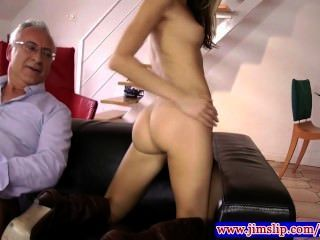 Gorgeous Babe Fucked By Old Man