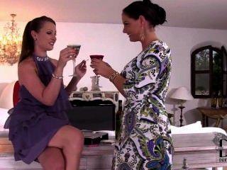 Lesbians Smoking Together