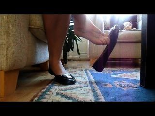 Sexy Shoeplay With Trashed Worn Flats