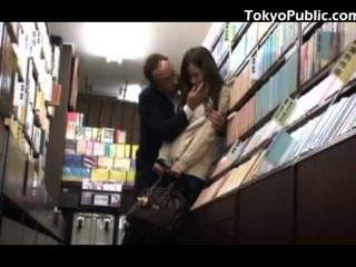 Japanese Schoolgirl Public Sex In The Bookstore