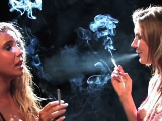 Holly And Friend Smoking