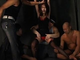 Japanese Girl Gets Tickled By More Men